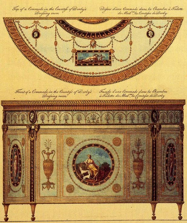 Robert Adam 1774 Design for Countess of Derby at Derby House, Grosvenor Square made by Mayhew & Ince