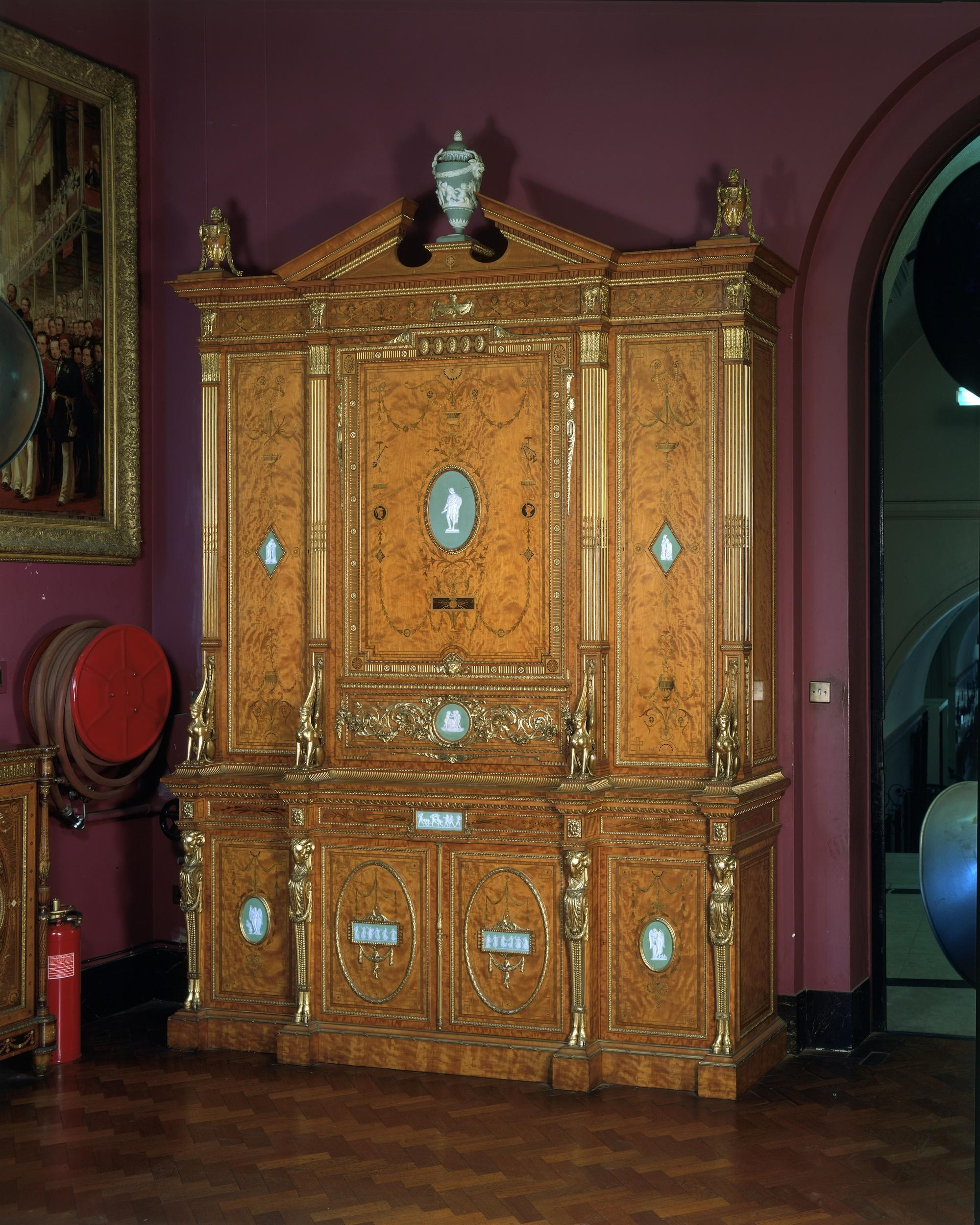 Wright & Mansfield 1867 exposition cabinet purchased by the Victoria & Albert Museum