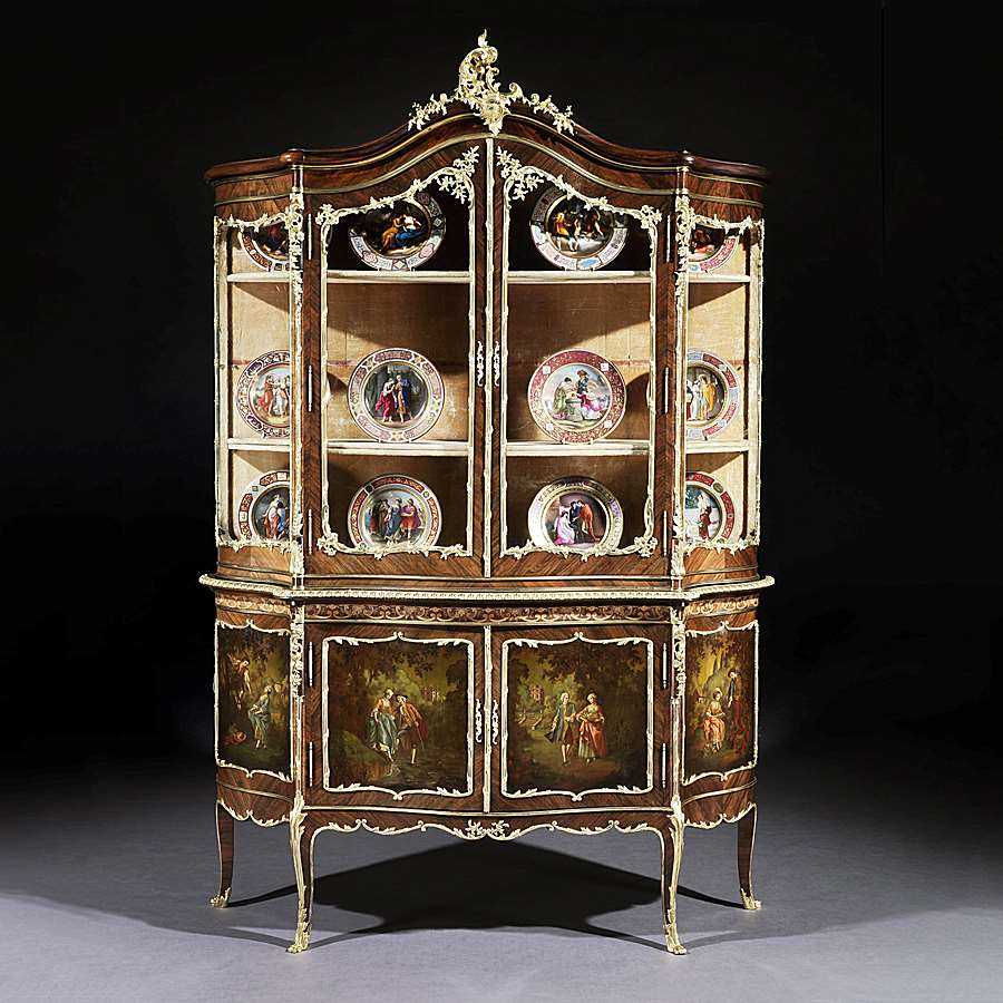   A Vitrine Cabinet in the Louis XV Vernis Martin Manner   Butchoff Antiques  - Object details - A Vitrine Cabinet In The Louis XV Vernis Martin Manner Butchoff