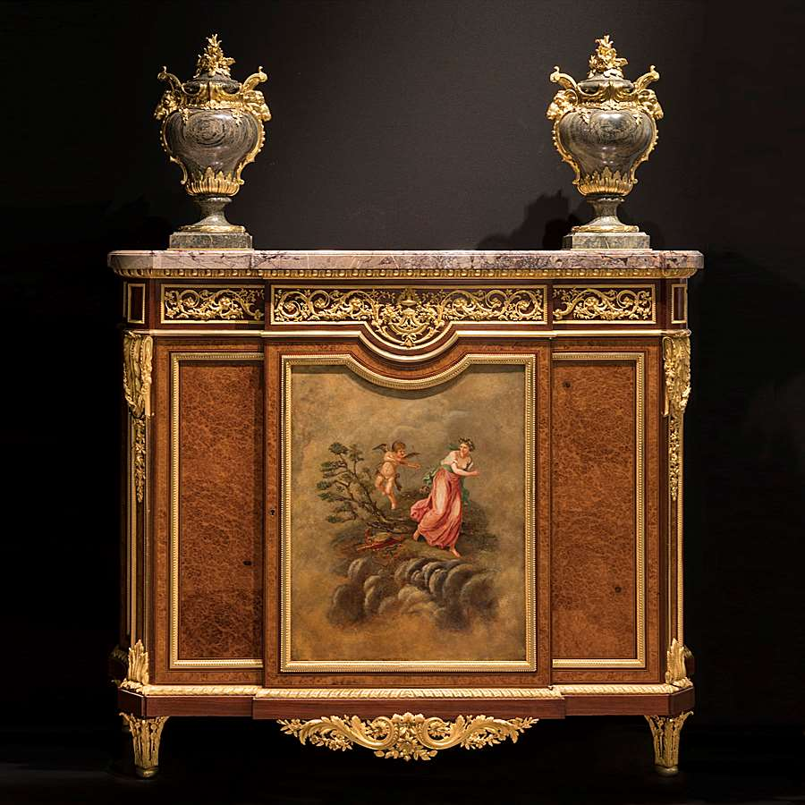 Meuble Ancien Style Henri 4 an important side cabinethenry dasson   butchoff antiques
