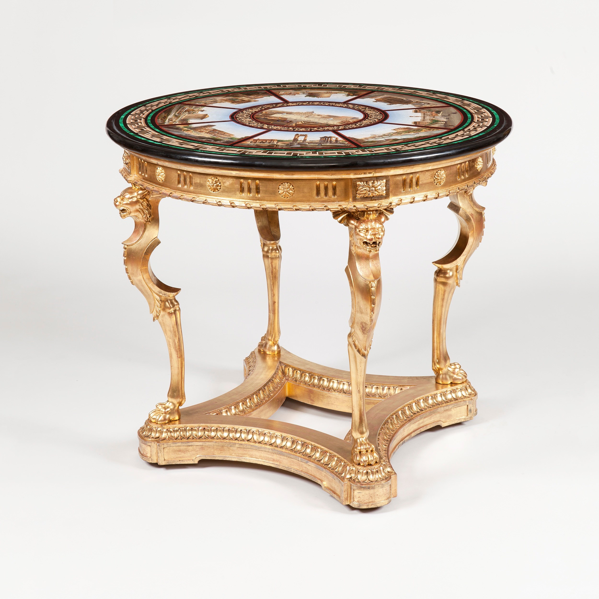 Noble Antique Italian Mico Mosaic Centre Table | Butchoff Antiques   Object  Details