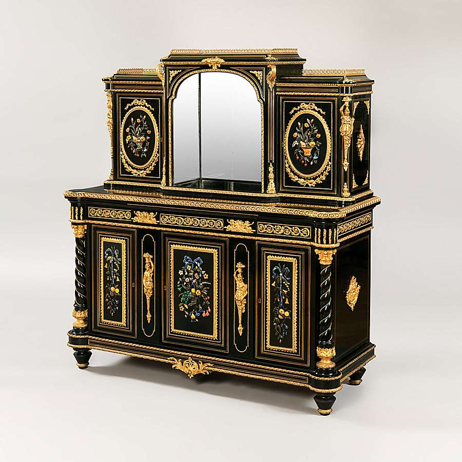 | A Side Cabinet of the French Second Empire Period In the Manner of Befort  Jeune | Butchoff Antiques - Object details - A Side Cabinet Of The French Second Empire Period In The Manner Of