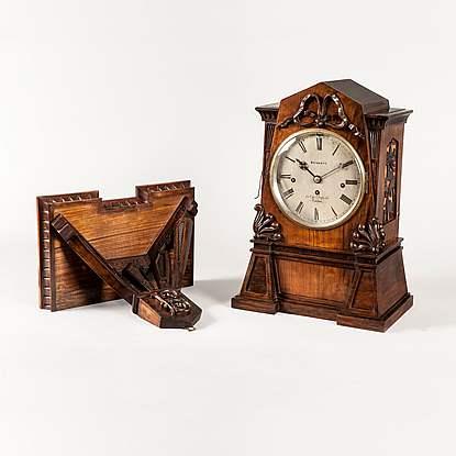 A Fine Quarter Chiming Bracket Clock By John Bennett Of Cheapside
